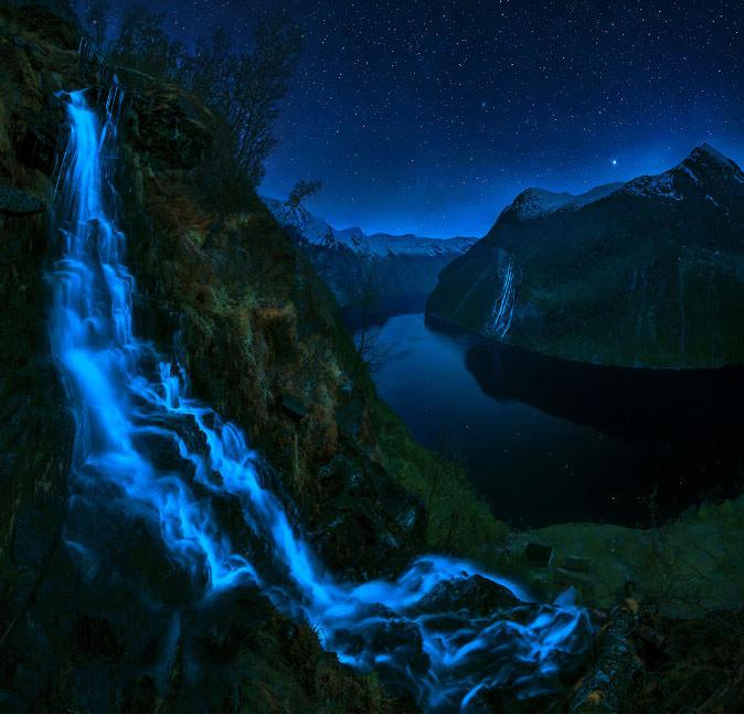 شلالات Geirangerfjorden بالنرويج