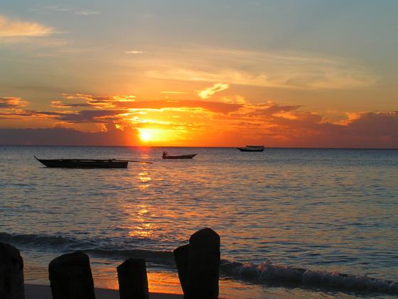 غروب الشمس فى جزيرة زنجبار