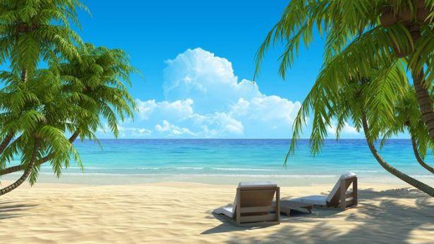 شاطئ بحر الكاريبى