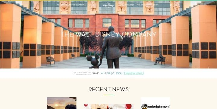 موقع شركة والت ديزني