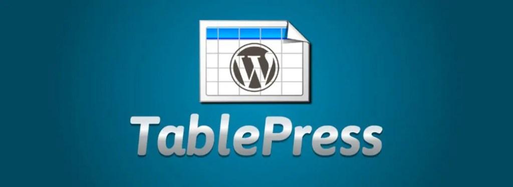 1 – إضافة Table press