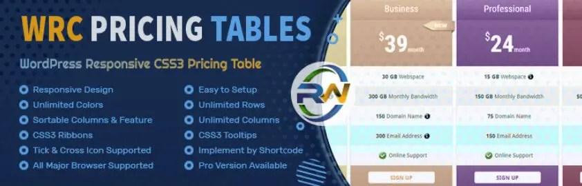 5 – إضافة WRC Pricing Tables Ultimate المجّانية