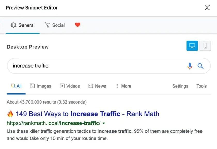 5 – معاينة المنشور على Google