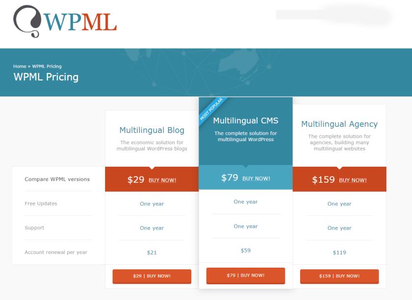 باقات WPML