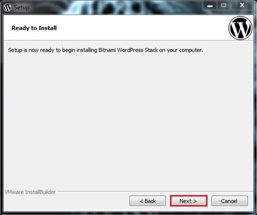 12 الواجهة الخاصة بجهوزية التنصيب برنامج BITNAMI WORDPRESS STACK