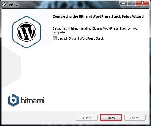 16 اكتمال التنصيب برنامج BITNAMI WORDPRESS STACK