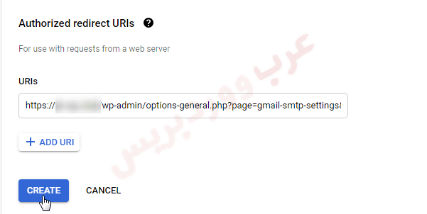 Authorized redirect URLs