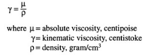 Kinematic Viscosity