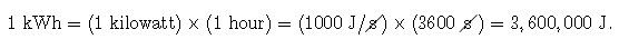 KWh equation
