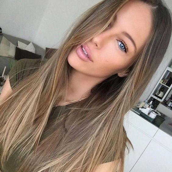 لون شعر طبيعي