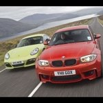BMW 1-series M vs Porsche Cayman R video review