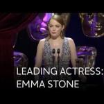 Emma Stone wins Best Leading Actress BAFTA for La La Land – The British Academy Film Awards 2017
