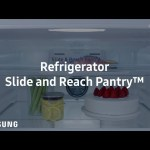 Twin Cooling Plus™ refrigerator: how it works – slide and reach pantry | Samsung