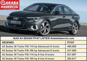 Audi A3 Sedan fiyatları Temmuz