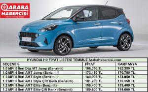 Hyundai i10 Fiyat Listesi Temmuz