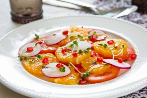 Shlada Fijl wa Latsheen - Orange and Radish Salad
