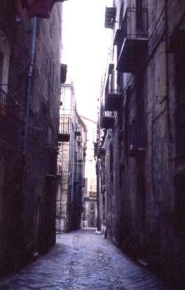 Sicily-Palermo-Street in Kalsa -Former Arab Quarter
