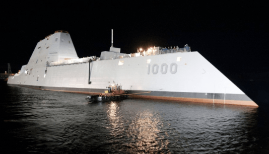 US Navy Christens New Stealth Destroyer Ship in Honor of Fallen Arab American Soldier