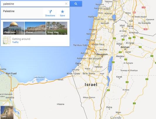 Palestine Does Not Receive Label on Google Maps