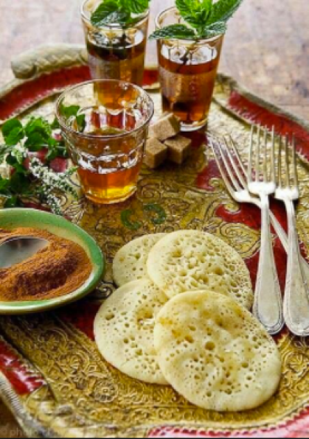 Serving Tea and Bread the Maghrebi Way