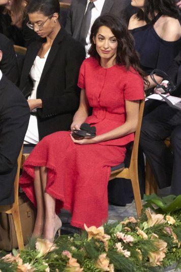 Amal Clooney Wears Oscar de la Renta at the Nobel Peace Prize Ceremony in Norway