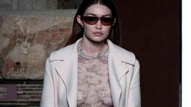 Gigi Hadid Wears Sheer Top at Paris Fashion Week