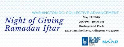 NAAP DC x Islamic Relief Night Of Giving Ramadan Iftar