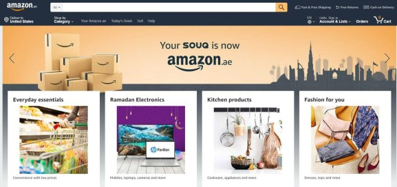 Amazon Launches Its First Arabic Website in UAE