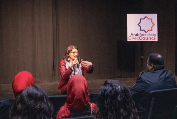 Congresswoman Rashida Tlaib visits Fullerton