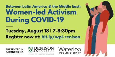 VIRTUAL Renison Lecture Series: Between Latin American & the Middle East