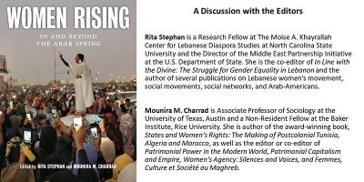 """A Discussion with Editors of """"Women Rising: In and Beyond the Arab Spring"""""""
