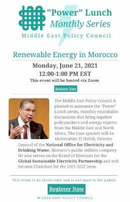 Renewable Energy in MENA & Shifting Power Dynamics for the Region