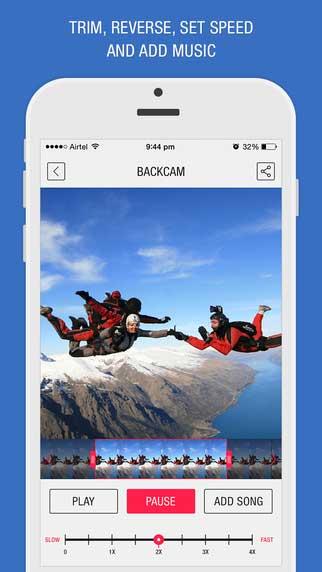 تطبيق Back Cam لعكس تشغيل مقاطع الفيديو - للمتعة والتسلية