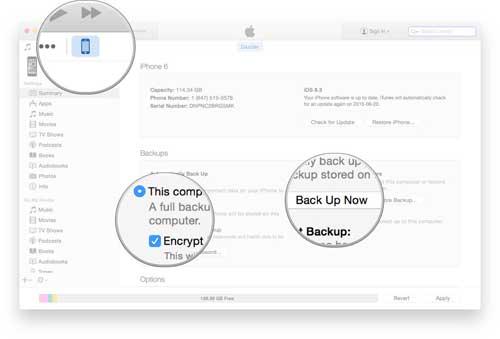 شرح: طريقة حفظ Backup أو نسخة احتياطية من الأيفون عن طريق الأيتونز