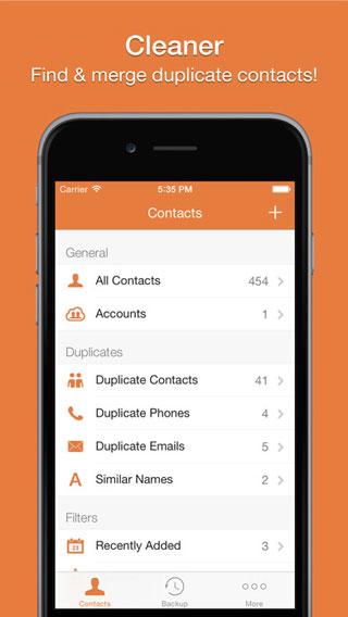 تطبيق Cleaner Pro لحذف أرقام الهواتف المكررة