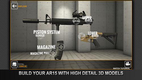 تطبيق GUNSTRUCTION لتجميع قطع الأسلحة