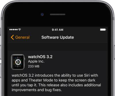 تحديث ساعة آبل الإصدار 3.2