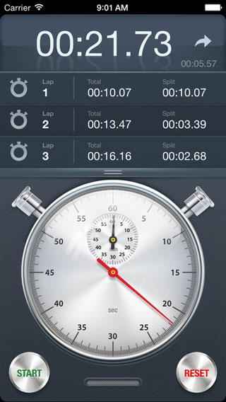تطبيق Stopwatch+ كرونومتر بتصميم كلاسيكي