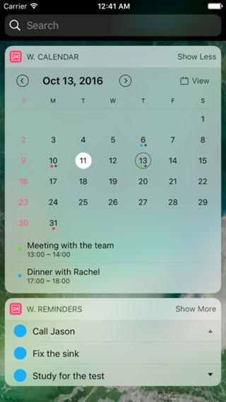 ويدجت Widget Calendar لإضافة التقويم لمركز الويدجت