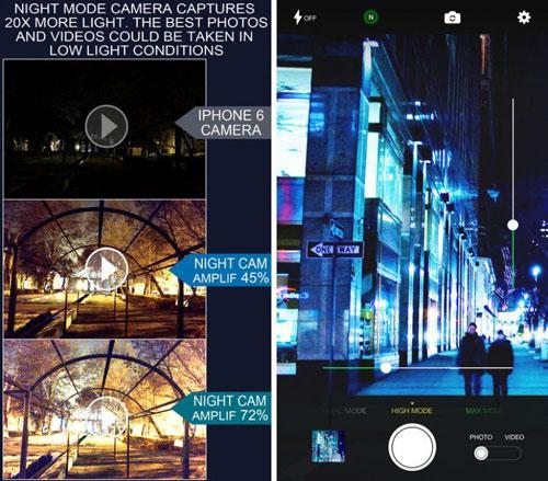 تطبيق Night Mode Camera للتصوير ليلا بمزايا احترافية