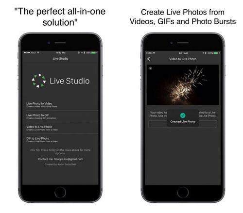 تطبيق Live Studio لتحويل الصور إلى Live Photos