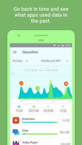 تطبيق GlassWire لمعرفة كمية استهلاكك للبيانات وحمايتها
