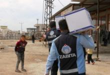 Photo of بلدية تركية تقوم بتوزيع مساعدات غذائية على مئات الأشخاص الذين شملهم حظر التجول