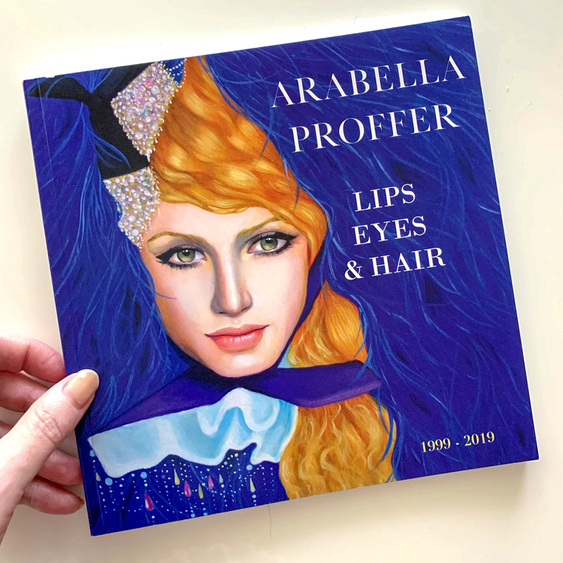 book cover from Arabella Proffer, blue portrait of woman