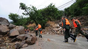 Rescue Work Conducts After Fujian Landslide