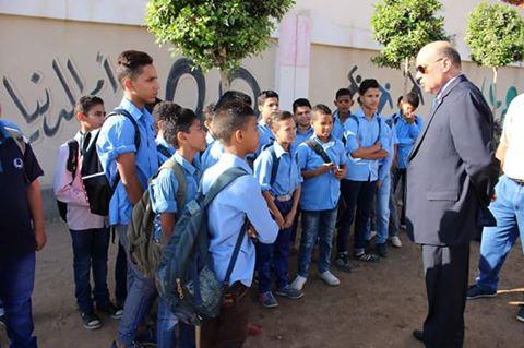 وكيل الوزارة يتابع مدرسة عمرو بن العاص بغرب طنطا جريدة الواقع العربي