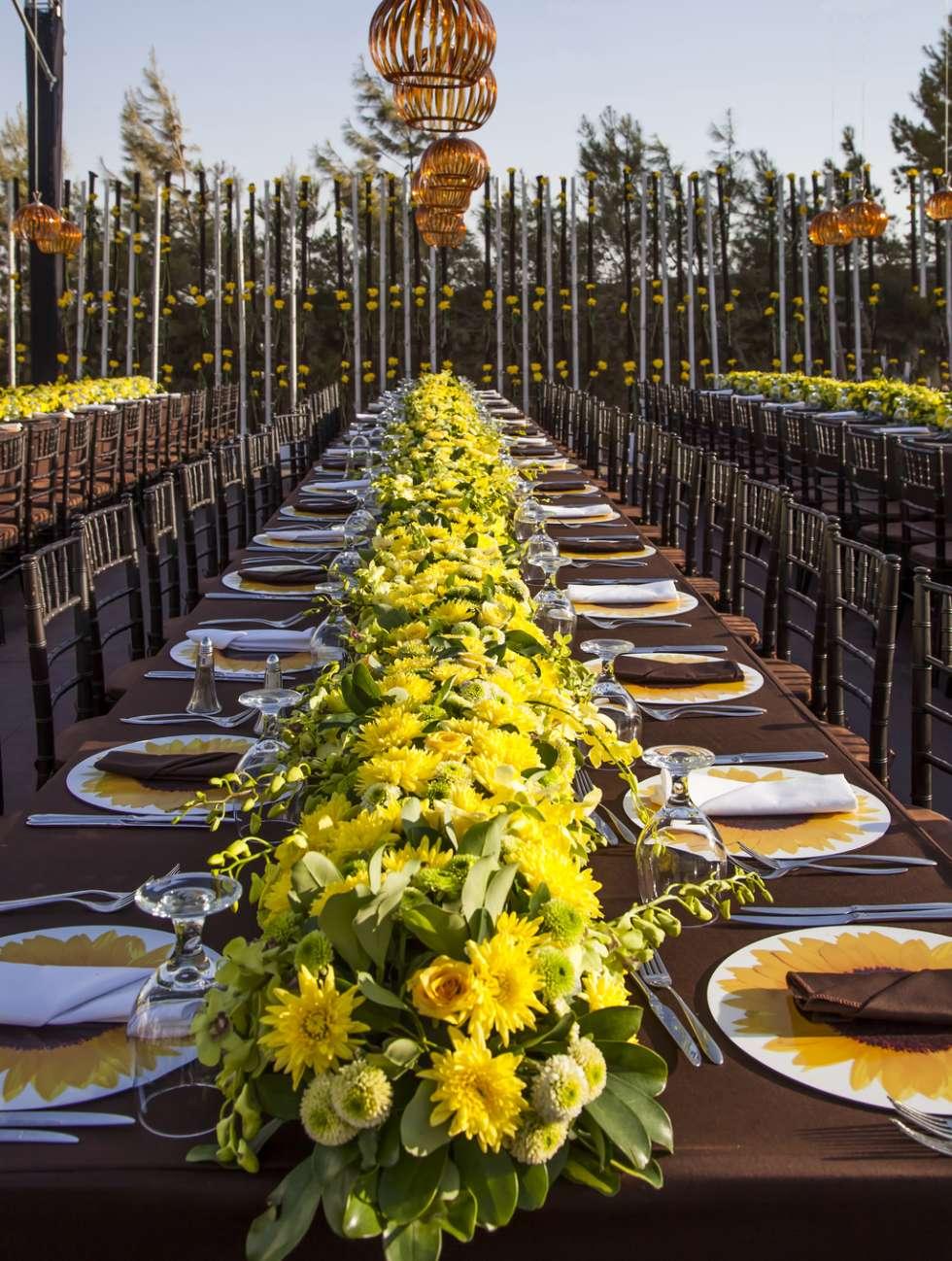 A Sunflower Wedding Theme By My Event Design Arabia Weddings
