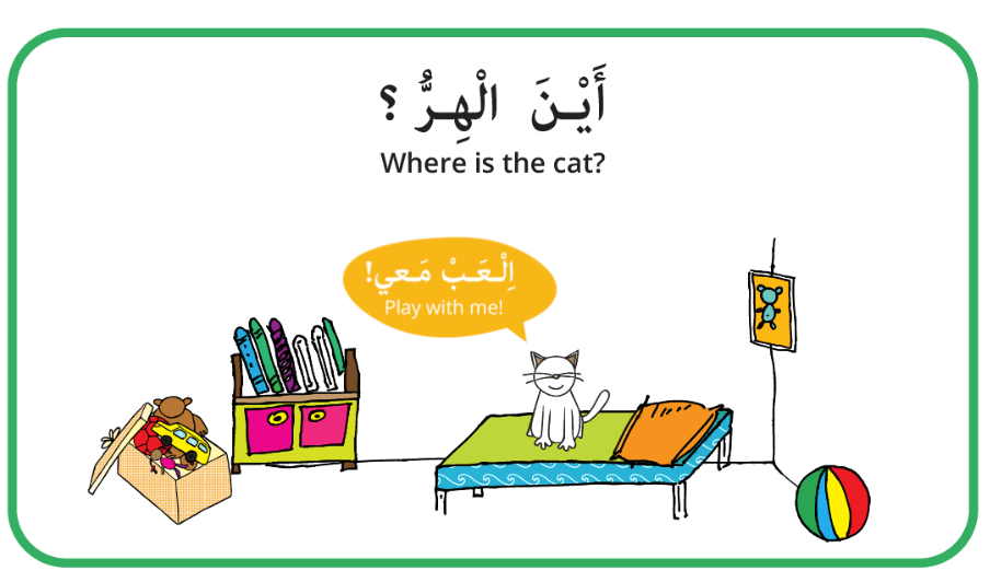 Arabic Prepositions Games - Arabic Seeds - House unit