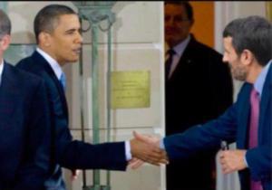 الصورة المفبركة لباراك أوباما وأحمدي نجاد
