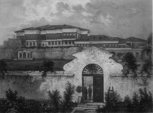 أول صورة التقطت في مصر لقصر حريم محمد علي باشا عام 1839